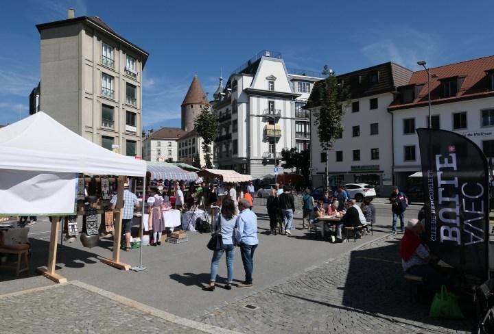 Marché de la Bénichon 2018 in Bulle, Switzerland