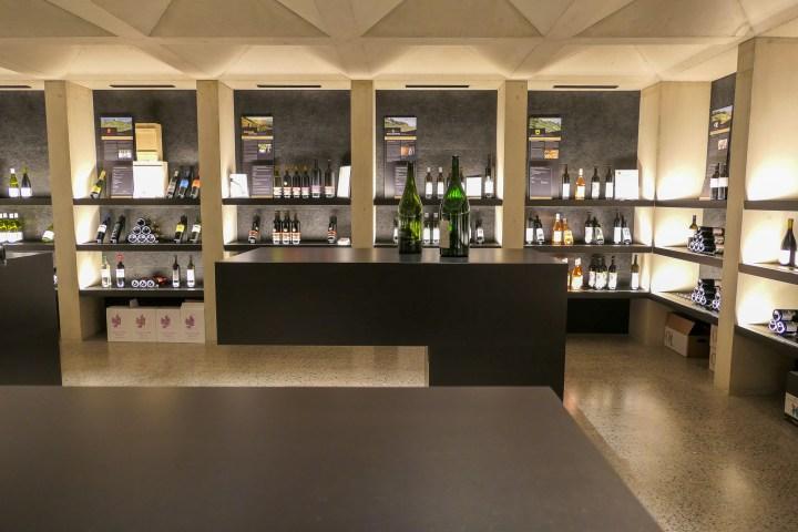 The wine cellar at the Haus des Weins