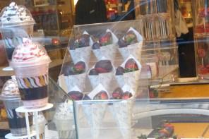 Fraises au chocolat chez Godiva