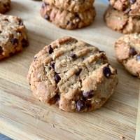 Cookies Beurre de Cacahuète, Avoine & Pépites de Chocolat