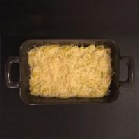 Gratin de poireaux au fromage frais