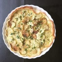 Tarte aux courgettes et fromage ail et fines herbes