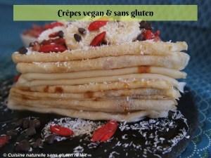 crêpes vegan et sans gluten