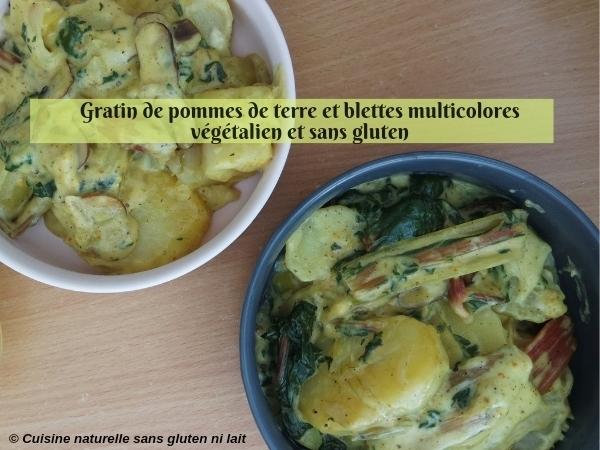 Gratin de pommes de terre et blettes {végétalien & sans gluten}
