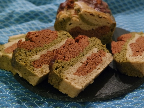 Cake marbré sans gluten et vegan au Vitaliseur