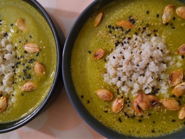 Soupe chou frisé et chou au p'tites étoiles sans gluten