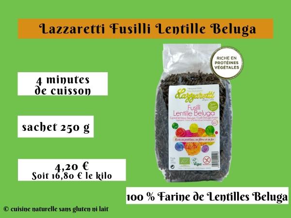 Lazzaretti Fusilli lentilles beluga