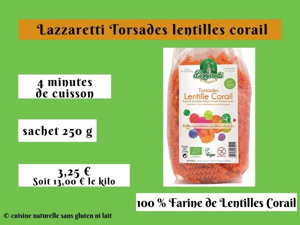 Lazzaretti Torsades lentilles corail