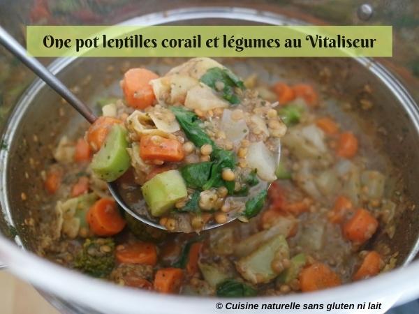 One pot lentilles corail et légumes au Vitaliseur