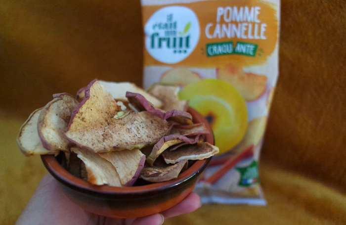 Il était un fruit pommes séchées pour goûter sans gluten sans sucre ajouté enfants