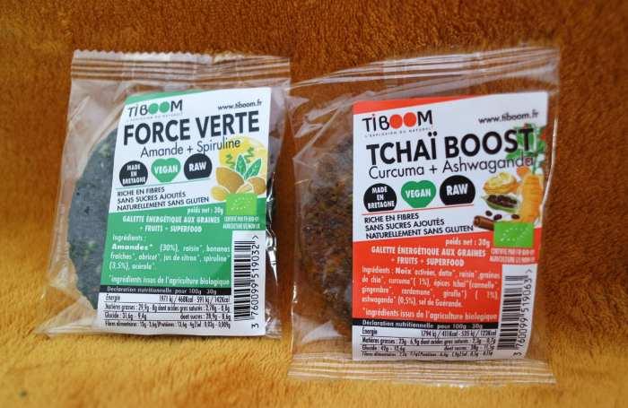 Tiboom snack goûter vegan sans gluten superaliments