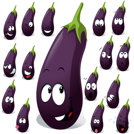 13847824 - eggplant with many expression