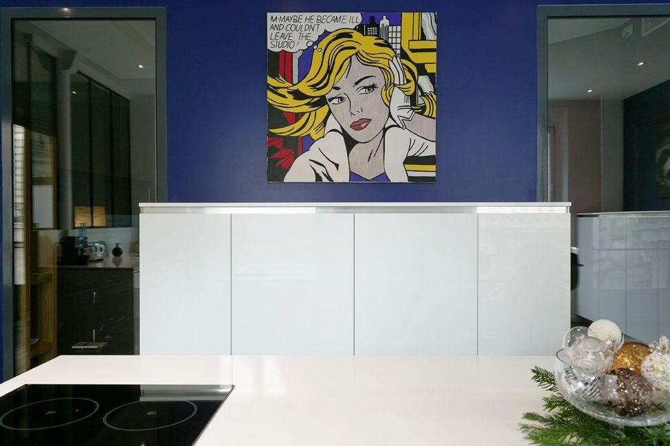 Une cuisine en couleur et transparence