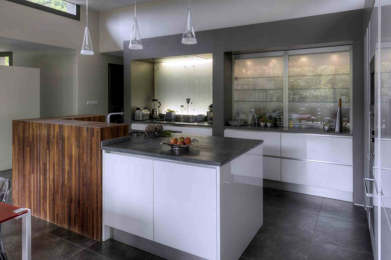 cuisine bicolore blanche bois