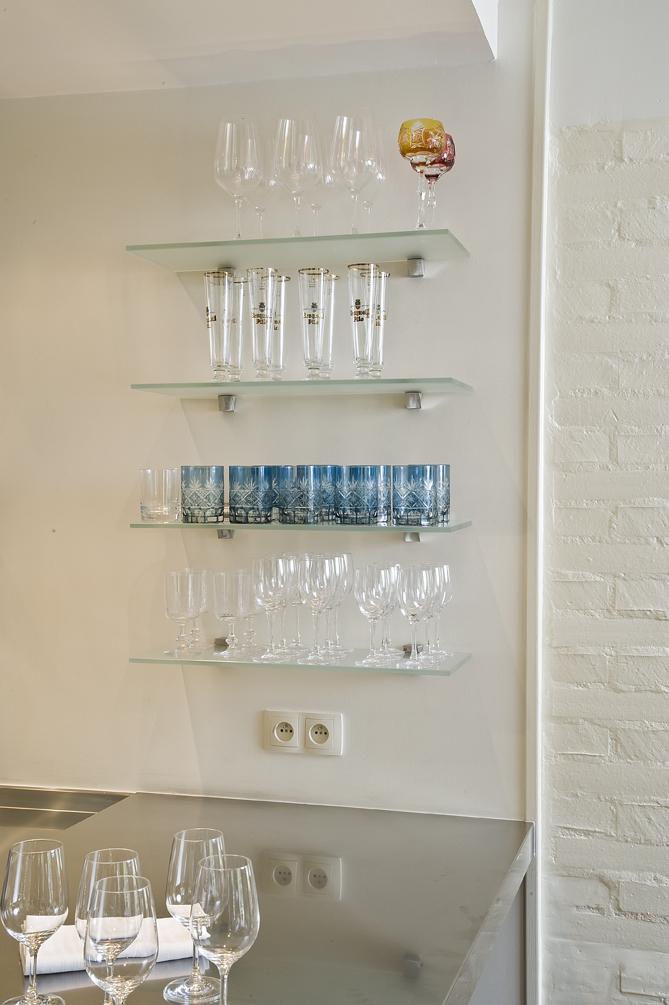 étagère verre