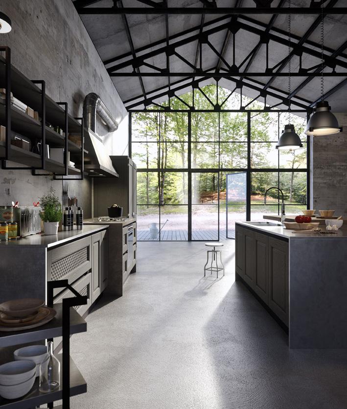 Chacun son style en cuisine cuisines et bains - Cuisine facon atelier ...