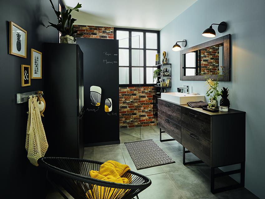cuisinella le plein d 39 astuces pour les petits espaces en salle de bains cuisines et bains. Black Bedroom Furniture Sets. Home Design Ideas