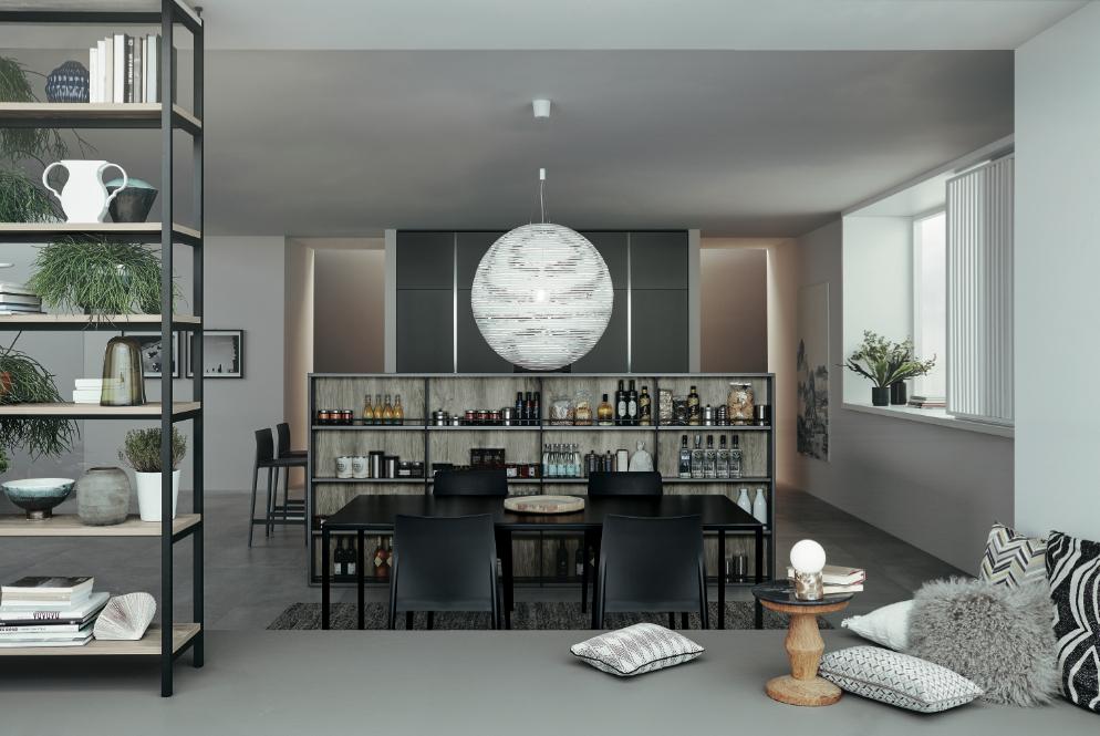 Lounge de Veneta Cucine : la fonctionnalité à l'honneur