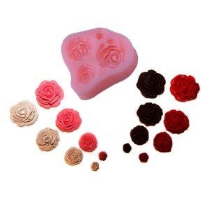 BOXCUTE-Moule-DIY-4-Taille-de-Rose-pour-Dcoration-Gteau-Cupcake-Fondant-Sucre-0