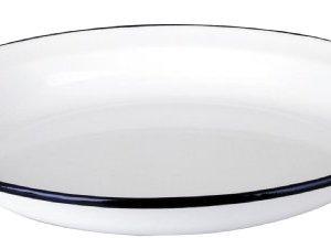 Ibili-912936-Assiette-en-acier-maill-vitrifi-Blanche-36-cm-0