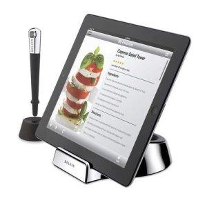 Socle pour tablette pour voir les recettes de cuisine