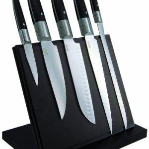 Laguiole-Production-443930-Laguiole-Expression-Bloc-Aimant-de-5-Grand-Couteaux-Cuisine-Laguiole-Manche-Pom-0
