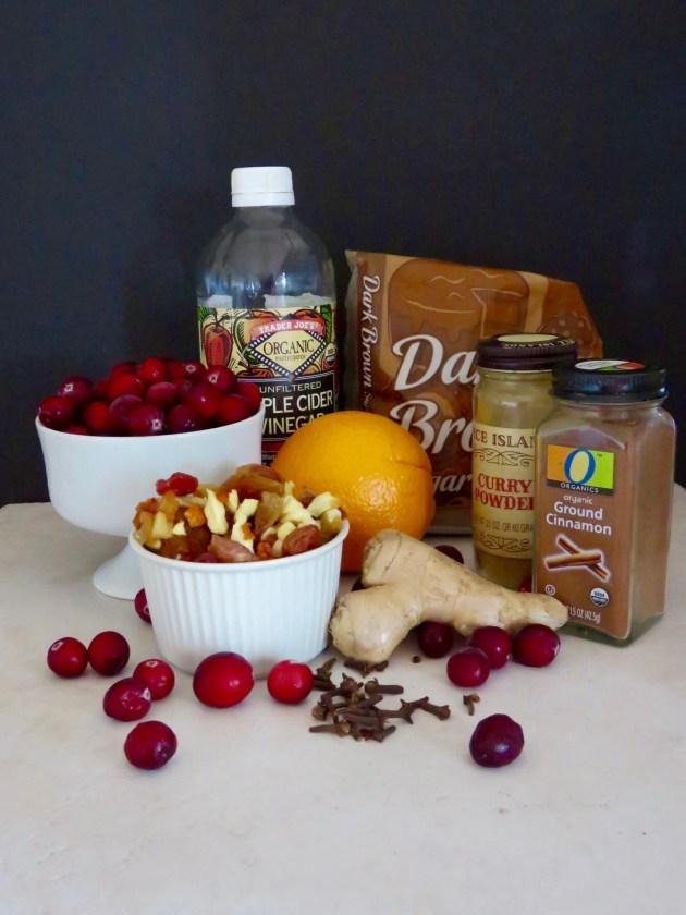 Cranberry Chutney Ingredients 2