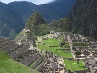 Good view of Machu Picchu houses