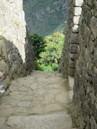 Machu Picchu–steep Inca path