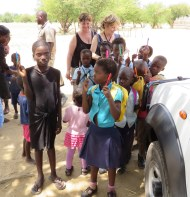 With Village Children Zambia