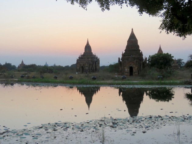 Bagan, Myanmar–Pagodas At Sunset