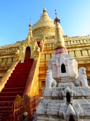 Bagan, Myanmar–Shwezigon Pagoda Stairway