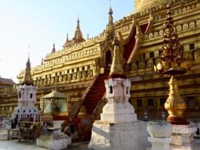 Bagan, Myanmar Terraces Of Shwezigon Pagoda