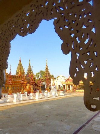 Bagan, Myanmar View Of Shwezigon Pagoda Grounds