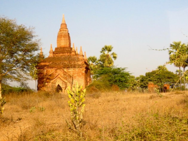 Bagan, Myanmar–Pagoda along the Road