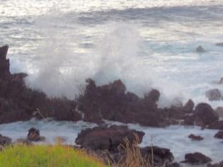 Easter Island-Rocky shoreline