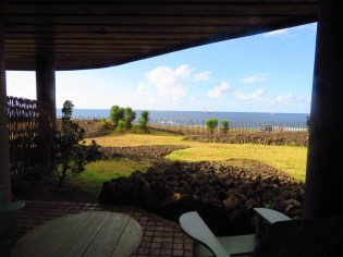 Hangaroa Lodge–view from our patio