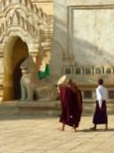 Monks, Ananda Temple, Bagan