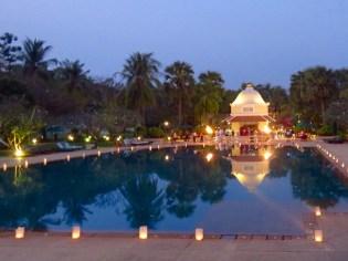 Siem Reap–Raffles Hotel d'Angkor pool area