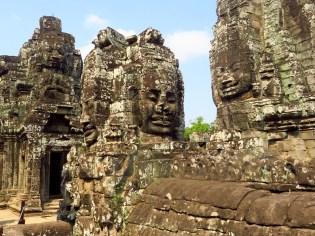 Siem Riep, Cambodia-Bayan Buddhas