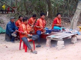Siem Riep, Cambodia–Musicians at Ta Prom Temple