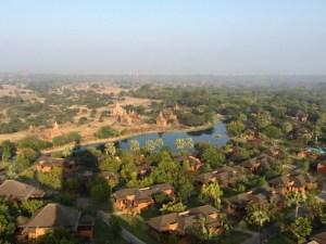 Bagan, Myanmar–Aureum Palace And Pagodas From Bagan Viewing Tower