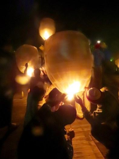 Inle Lake, Myanmar–Lighting The Balloons