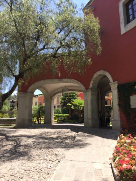Entrance to Rosewood Hotel, San Miguel de Allende