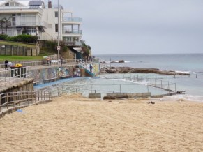 Rock pool for swimming on Bondi Beach