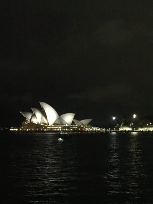 Night view, Sydney Opera House