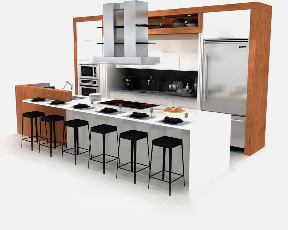 les plans 3d de votre future cuisine