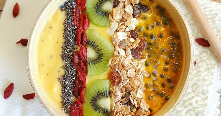 Smoothie bowl mangue, banane & passion