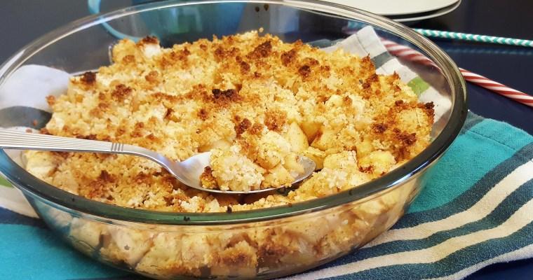 Crumble aux pommes sans beurre