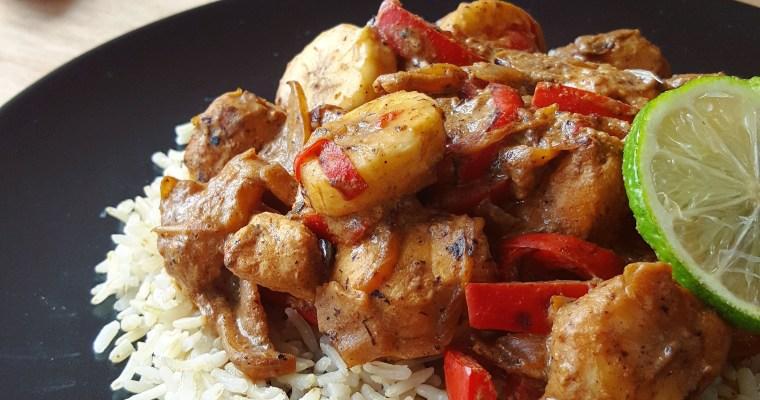 Curry de poulet à la banane
